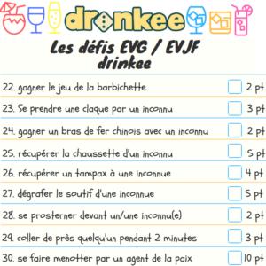 Défis Drinkee pour EVG – EVJF